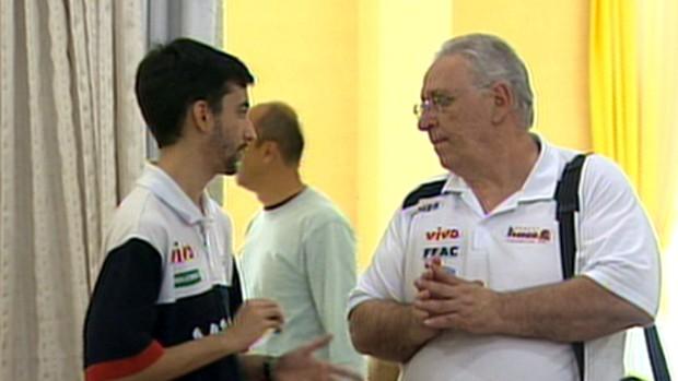 Lula Ferreira no Franca Basquete (Foto: Reprodução EPTV)