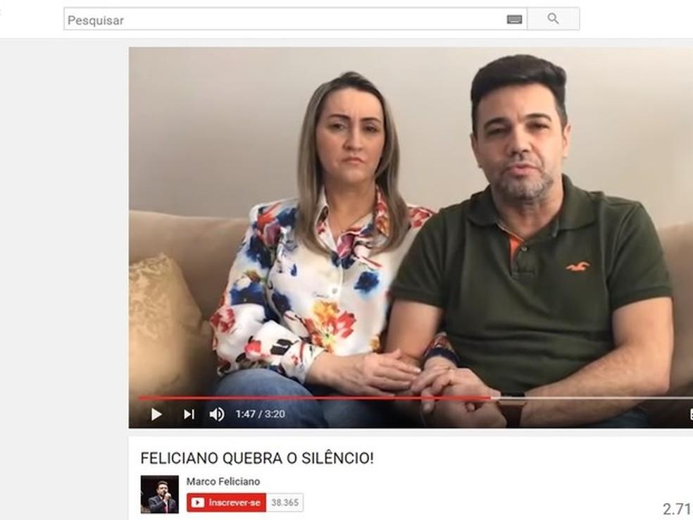 Deputado fez vídeo e postou para rebater acusações de Patrícia  (Foto: Reprodução/YouTube)
