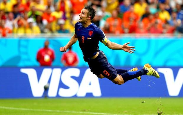 Robin van Persie comemoração gol Espanha x Holanda (Foto: Getty Images)