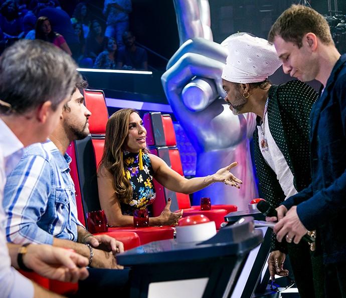 Antes das decisões também rolou uma conversa nos bastidores (Foto: Isabella Pinheiro / Gshow)