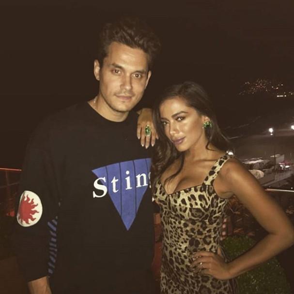 Anitta e John Mayer (Foto: Instagram/Reprodução)