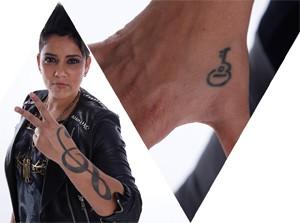 tatuagem Nise Palhares (Foto: The Voice Brasil/TV Globo)