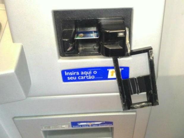 Equipamento foi instalado em caixa eletrônico (Foto: Guarda Municipal de Jundiaí)