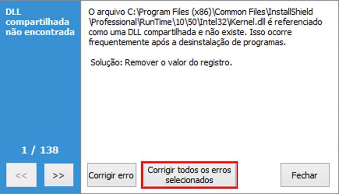 Limpando o registro do sistema com o CCleaner (foto: Reprodução/João Kurtz)