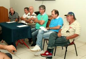 Penapolense, Nilso Moreira, Moreira, reunião, CAP, Penápolis (Foto: Silas Reche / CA Penapolense)