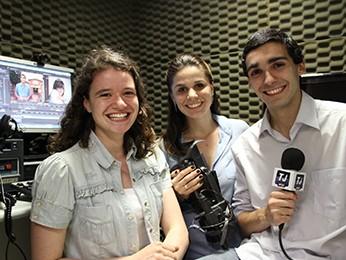 Renata Bassani, Simone Feldmann e Thales Camargo (Foto: Thales Camargo/Arquivo pessoal)