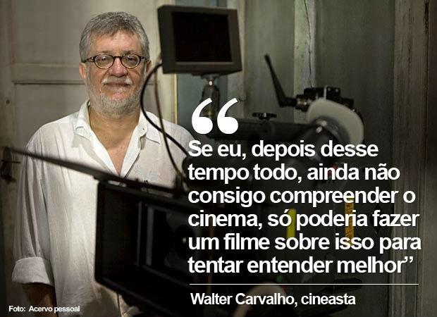"""Walter Carvalho, em entrevista sobre """"Um Filme sobre cinema"""" (Foto: Acervo pessoal)"""