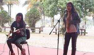 Ystefani se apresentava em eventos da escola onde estuda (Foto: Arquivo pessoal)