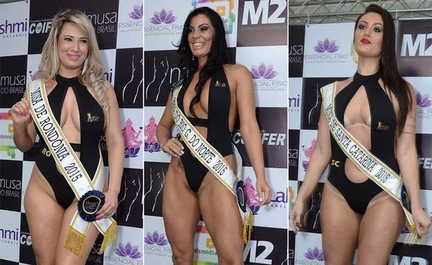 Candidatas Musa do Brasil: Katryna Rocha, Rondônia | Kelly Silva, Rio Grande do Norte | Letícia Beppler, Santa Catarina (Foto: Divulgação)