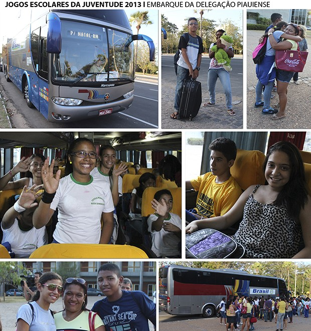 JOGOS ESCOLARES DA JUVENTUDE DELEGAÇÃO DO PIAUÍ (Foto: Renan Morais/GLOBOESPORTE.COM)