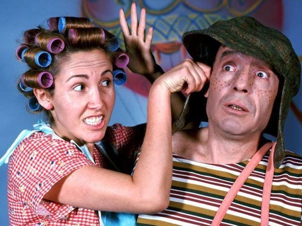 Casados na vida real, Florinda Meza e Roberto Bolaños interpretavam Dona Florinda e Chaves (Foto: Divulgação)