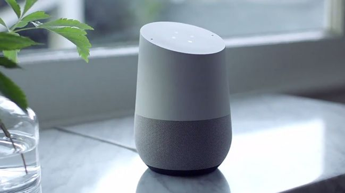 O Google Home tem design mais ousado do que o Amazon Echo (Foto: Divulgação/Google) (Foto: O Google Home tem design mais ousado do que o Amazon Echo (Foto: Divulgação/Google))
