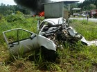 Acidente causa morte de motorista e incêndio em caminhão na BR-153