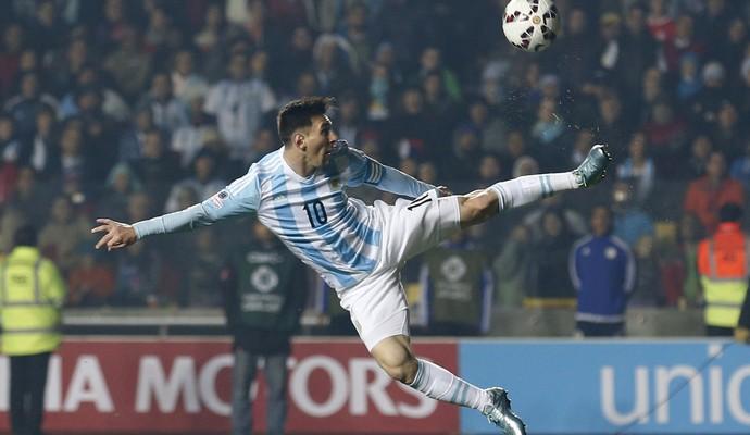 Messi Argentina x Paraguai Copa América (Foto: AP)