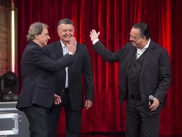 Reginaldo Leme, Arnaldo Cesar Coelho e Galvão Bueno no Adnight (Foto: Globo/Estevam Avellar)
