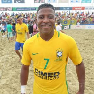 Bokinha, seleção brasileira de futebol de areia (Foto: Antonio Marcos)