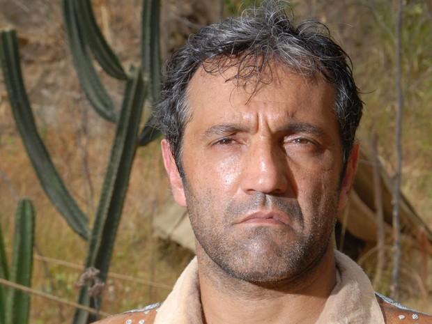 Domingos Montagner interpreta o personagem Herculano na novela 'Cordel Encantado', de 2011 (Foto: Márcio Nunes/TV Globo)