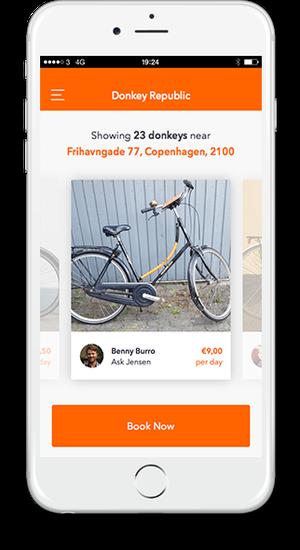 Aplicativo indica qual o local mais próximo para pegar uma das bicicletas participantes do programa (Foto: Donkey Republic (Reprodução))