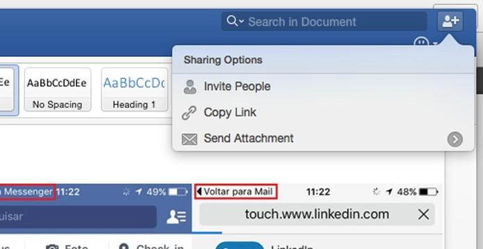 Configure as opções de compartilhamento (Foto: Reprodução/André Sugai)