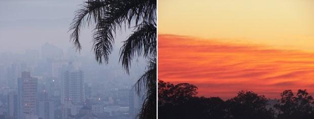 Porto Alegre teve neblina ao amanhecer, mas logo se dissipou (Foto: João Laud/RBS TV)