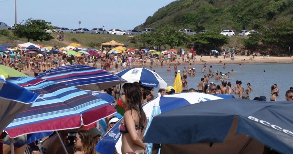 'Sensação do Brasil', diz banhista sobre praia de Guarapari, ES - Globo.com