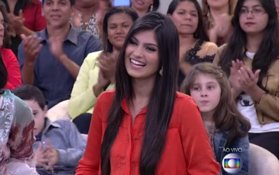 Gabriele sofreu Bullying por ser gorda (Foto: Encontro com Fátima Bernardes/TV Globo)