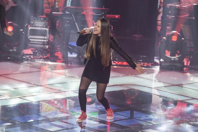 Carol Passos The Voice Kids (Foto: Globo/ Pedro Curi)