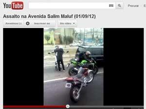 Reprodução do vídeo postado por um usuário no YouTube (Foto: Reprodução)