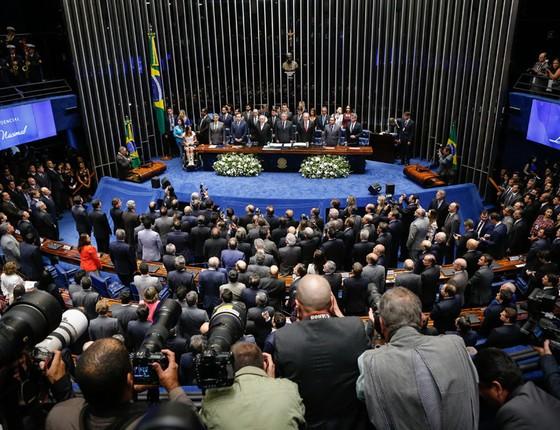 Sessão Extraordinária do processo de impeachment,  por suposto crime de responsabilidade (Foto: Sérgio Lima/ÉPOCA)