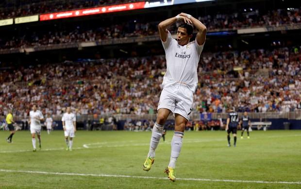 Cristiano Ronaldo comemora, Real Madrid x Inter de Milão (Foto: AP)