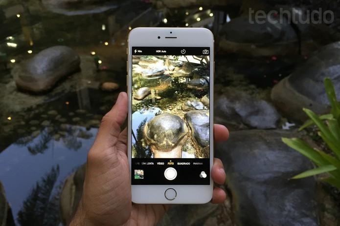 iPhone 6 tem câmera capaz de registrar ótimas imagens (Foto: Lucas Mendes/TechTudo)