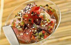 Ceviche de atum à moda oriental