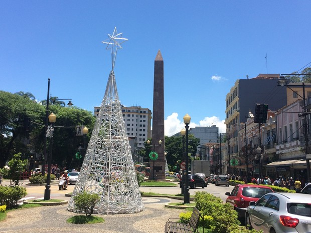 Em Petrópolis, calor é intenso no Centro e distritos (Foto: Bruno Rodrigues/G1)
