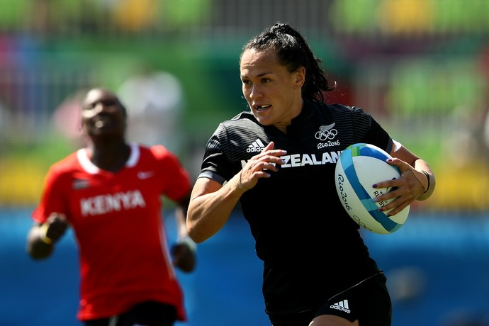 Portia Woodman, Nova Zelândia x Quênia rugby (Foto: Mark Kolbe/Getty Images)