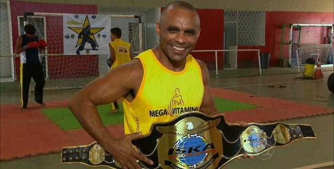Sandro Askiva, kickboxing (Foto: Reprodução / TV Cabo Branco)