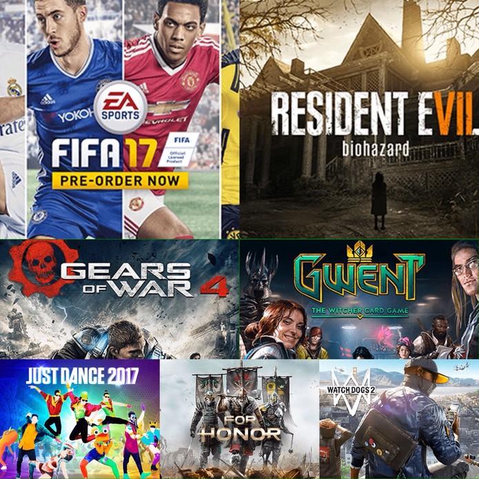 Alguns dos principais games que estarão na BGS 2016 (Foto: Reprodução/Felipe Vinha)