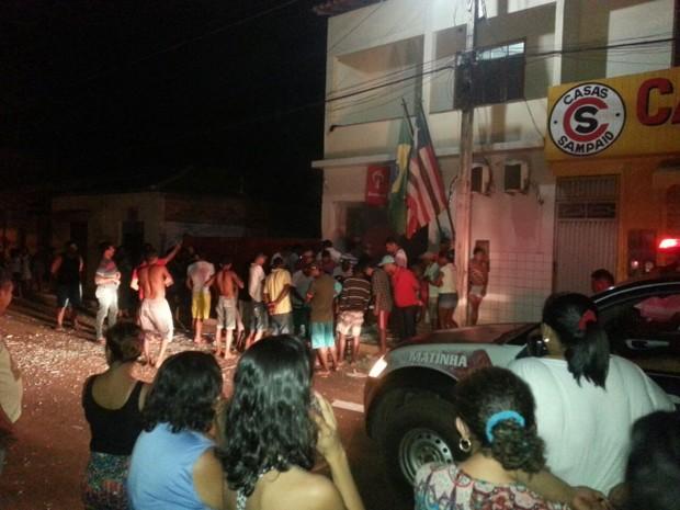 Criminosos explodem caixa eletrônico do Banco Bradesco, em Matinha, MA (Foto: Divulgação/Polícia)