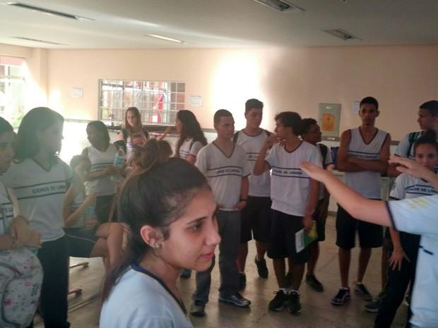 Alunos ocupam escola em protesto em Colatina, Espírito Santo (Foto: Divulgação/ Ubes)