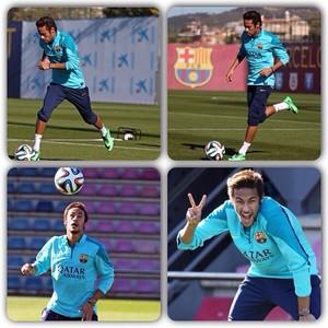 Neymar comemora volta aos treinos (Foto: Instagram)