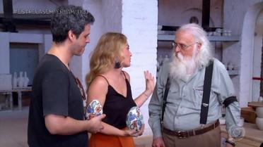Angélica e Bruno Garcia visitam a Oficina Brennand, em Recife