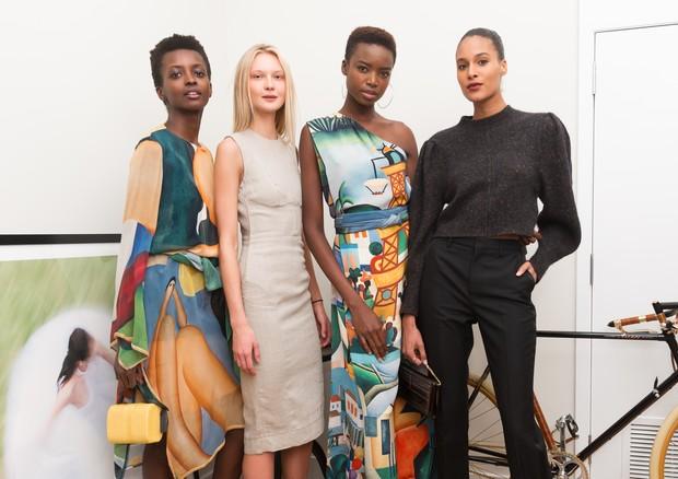 As modelos Amira Pinheiro, Yana Trufanova, Maria Borges e Cindy Bruna (Foto: Divulgação)