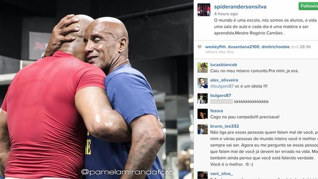 Anderson Silva Rogério Camões Instagram