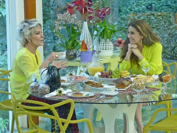 Giovanna Antonelli toma café da manhã com Ana Maria (Foto: Mais Você / TV Globo)