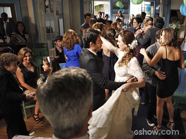 A galera do Grajaú aproveita a festa  (Foto: Inácio Moraes / TV Globo)