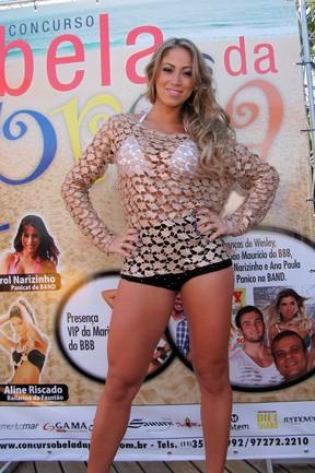 Ex-panicat Carol Narizinho em evento em Florianópolis (Foto: Gabriel Rangel/ Ag. News)