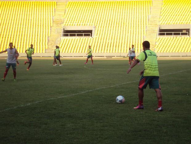 Sampaio deve voltar a atuar no sistema 3-6-1 (Foto: Afonso Diniz/Globoesporte.com)