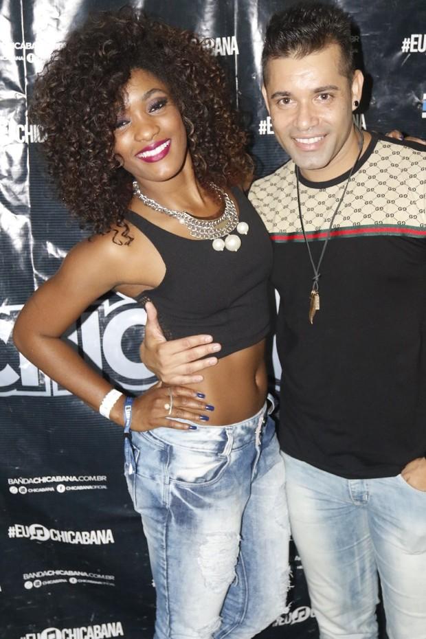 Erica Januzza curte show de Chicabana no Salvador Fest (Foto: Fred Pontes /  Divulgação)