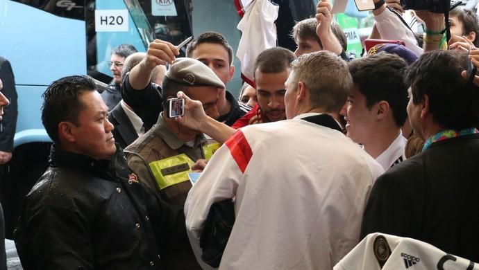 schweinsteiger porto alegre alemanha (Foto: Diego Guichard/GloboEsporte.com)