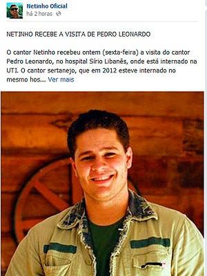 Pedro Leonardo (Foto: Reprodução/Facebook)