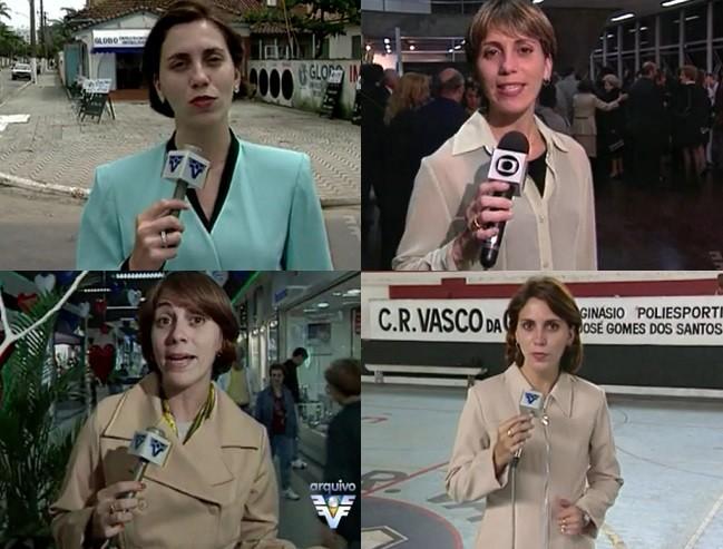 Momentos da carreira da jornalista Rosana Valle (Foto: Arquivo/TV Tribuna)